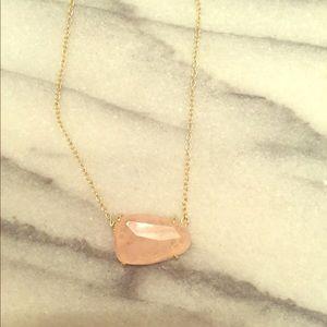 Kendra Scott Rose Quartz Isla necklace